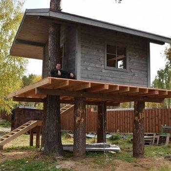 Каждому фахверку домик на дереве… детей загонять сюда…