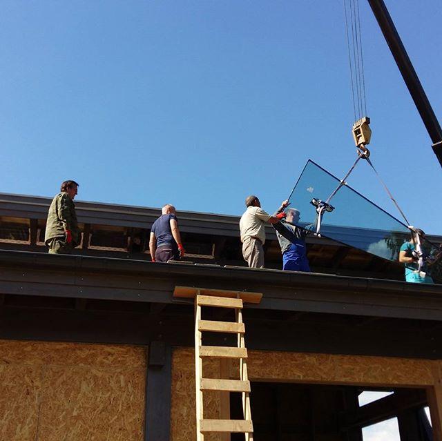 #БрауниАрт подьем на крышу трапеции сложной формы, в трапеции отсутствуют прямые углы