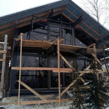 Фахверковый дом в условиях крайнего севера.