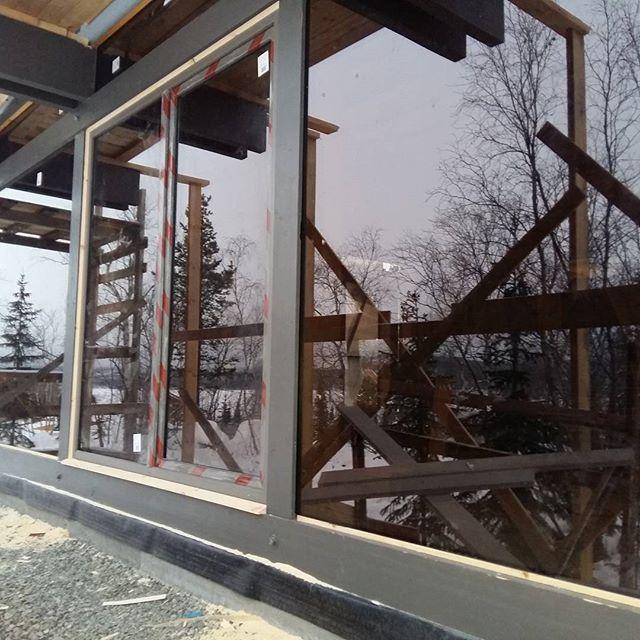 Панорамное остекление в фахверке. #БрауниАрт фахверковый дом на крайнем севере.
