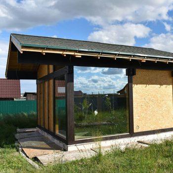 Фахверк приходит в Великий Новгород. В составе обьекта стеклопакет более 6 кв..м #Остеклениефахверков