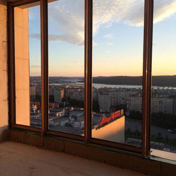 Потрясающий вид из окна пентхауса