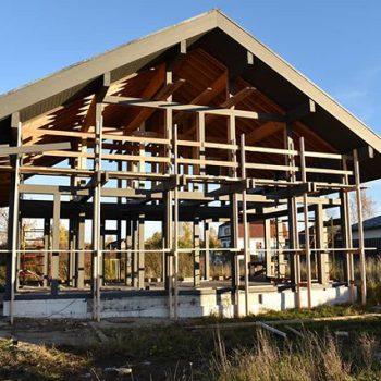 Строительство фахверка в Узигонтах… мы не только стеклим, мы строим фахверки